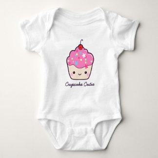 Cute Pink Cupcake Cutie Baby Bodysuit