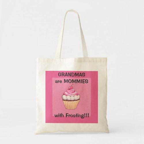 Cute Pink Cupcake Grandma Tote Bag