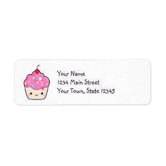 Cute Pink Cupcake Return Address Label