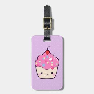 Cute Pink Cupcake Luggage Tag