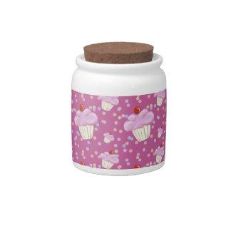 Cute Pink Cupcake Pattern Candy Dish