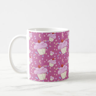 Cute Pink Cupcake Pattern Coffee Mug