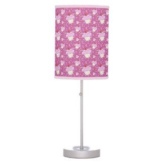 Cute Pink Cupcake Pattern Desk Lamp