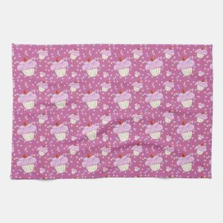 Cute Pink Cupcake Pattern Towel