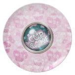 Cute Pink Cupcake Plate