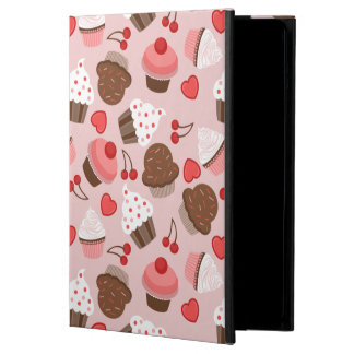 Cute Pink Cupcakes, Hearts And Cherries Pattern Case For iPad Air