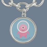 Cute Pink Cyclops Alien Charm Bracelet