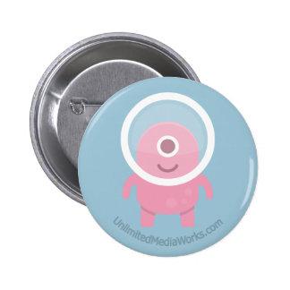 Cute Pink Cyclops Alien Pinback Button