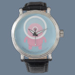 Cute Pink Cyclops Alien Wrist Watch