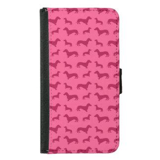 Cute pink dachshund pattern
