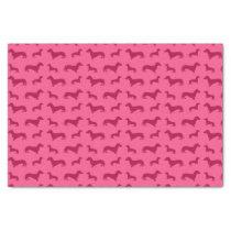 Cute pink dachshund pattern tissue paper