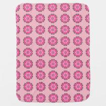 Cute Pink Daisy Pattern Baby Blanket