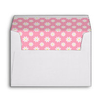 Cute Pink Daisy Pattern Envelopes