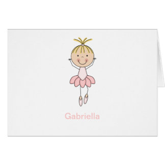 Cute , Pink, Dancing  Ballerina Greeting Card