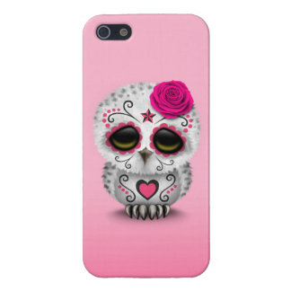 Cute Pink Day of the Dead Sugar Skull Owl iPhone 5/5S Cover
