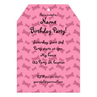 Cute pink dog bones pattern 5x7 paper invitation card
