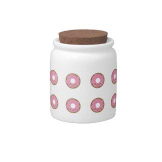 Cute Pink Donut Candy Jar