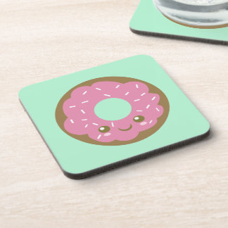 Cute Pink Donut Drink Coaster