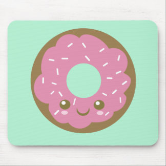 Cute Pink Donut Mouse Pad
