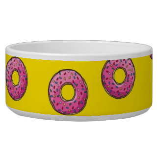 Cute Pink Donuts Bowl