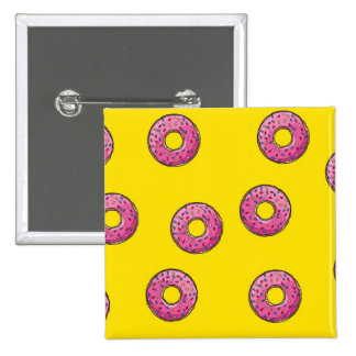 Cute Pink Donuts Pinback Button