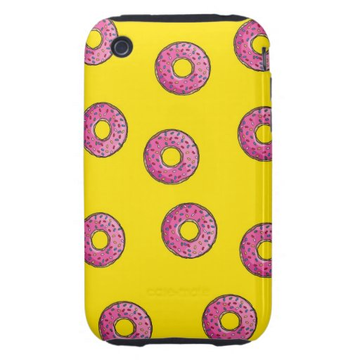 Cute Pink Donuts iPhone 3 Tough Cover