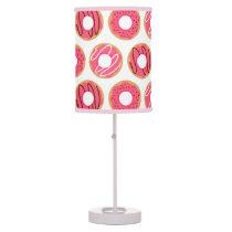 Cute Pink Donuts Pattern Desk Lamp