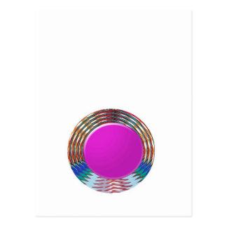 CUTE pink DOT circle BINDI sparkle: LOWPRICE STORE Postcard