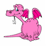 Cute Pink Dragon Baby Photo Cutouts