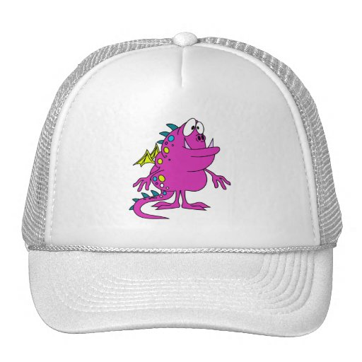 cute pink dragon monster creature hats