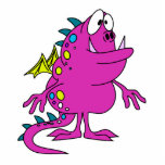cute pink dragon monster creature photo cut outs