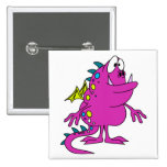 cute pink dragon monster creature pin