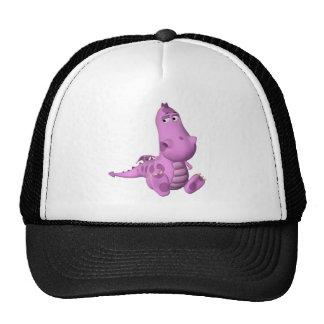 Cute pink dragon trucker hat