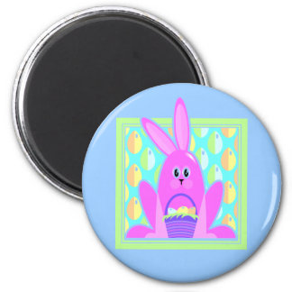 Cute Pink Easter Bunny Rabbit Magnet