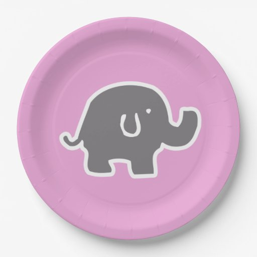 cute pink elephant baby shower paper plates 9 inch paper plate