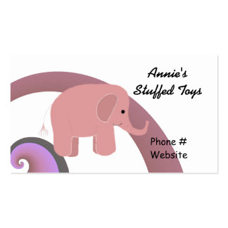 Cute Pink Elephant Double-Sided Standard Business Cards (Pack Of 100)