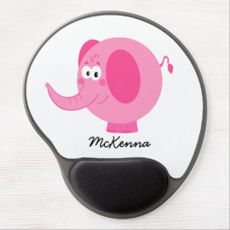 Cute Pink Elephant Gel Mouse Mats