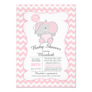 pink elephant baby shower invitations announcements zazzle