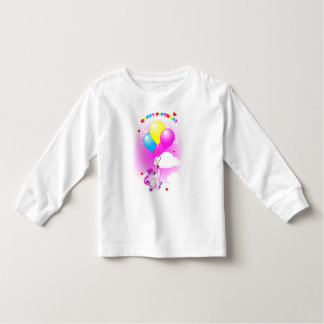 Cute Pink Elephant Happy Birthday Infant Creeper