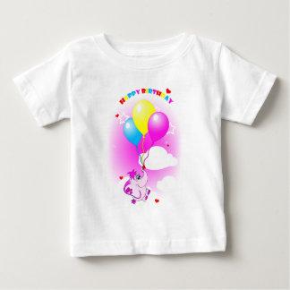 Cute Pink Elephant Happy Birthday Infant T-Shirt