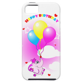 Cute Pink Elephant Happy Birthday iPhone 5 Case