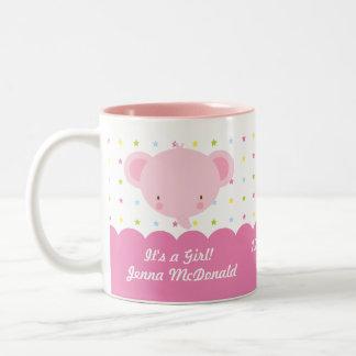 Cute Pink Elephant Its a Girl Mug