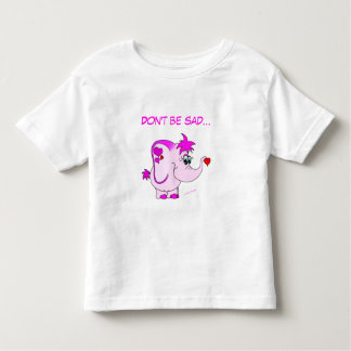 Cute Pink Elephant Lucky Pinkie Kids T-Shirt