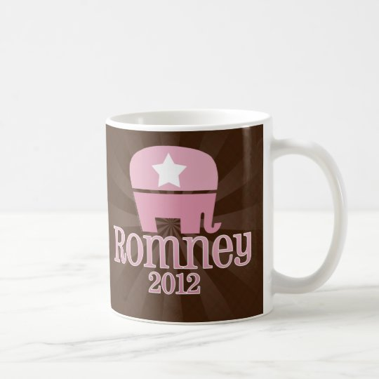 Cute Pink Elephant, Romney 2012 Coffee Mug
