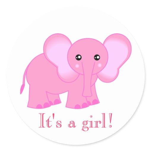 Cute pink elephant - photo#5