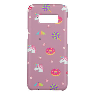 cute pink emoji unicorns candies flowers lollipops Case-Mate samsung galaxy s8 case