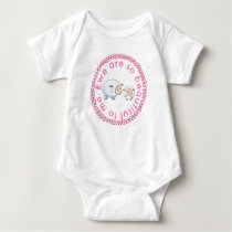 Cute Pink Ewe Are So Beautiful Sheep Baby Bodysuit