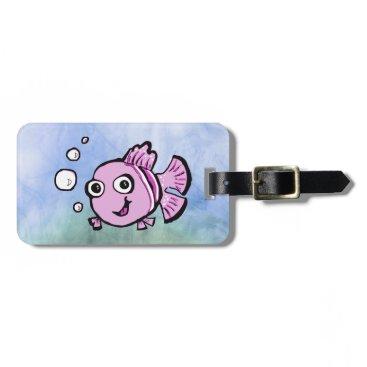 Beach Themed Cute Pink Fish Bag Tag