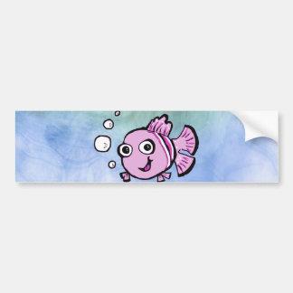 Cute Pink Fish Bumper Sticker