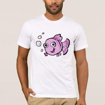 Beach Themed Cute Pink Fish T-Shirt